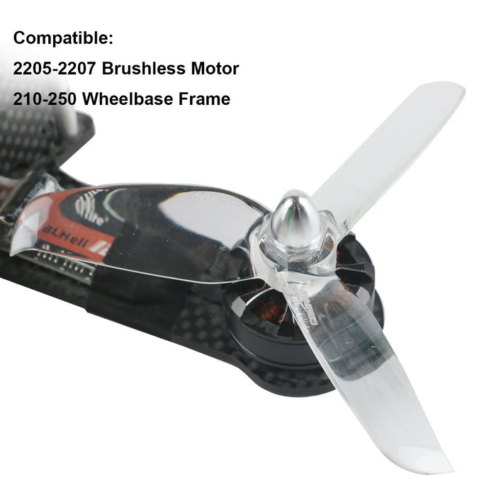 Gemfan 4052 Propellers 3-Blade Props Triblade CW CCW Propeller for 2205-2407 Brushless Motor