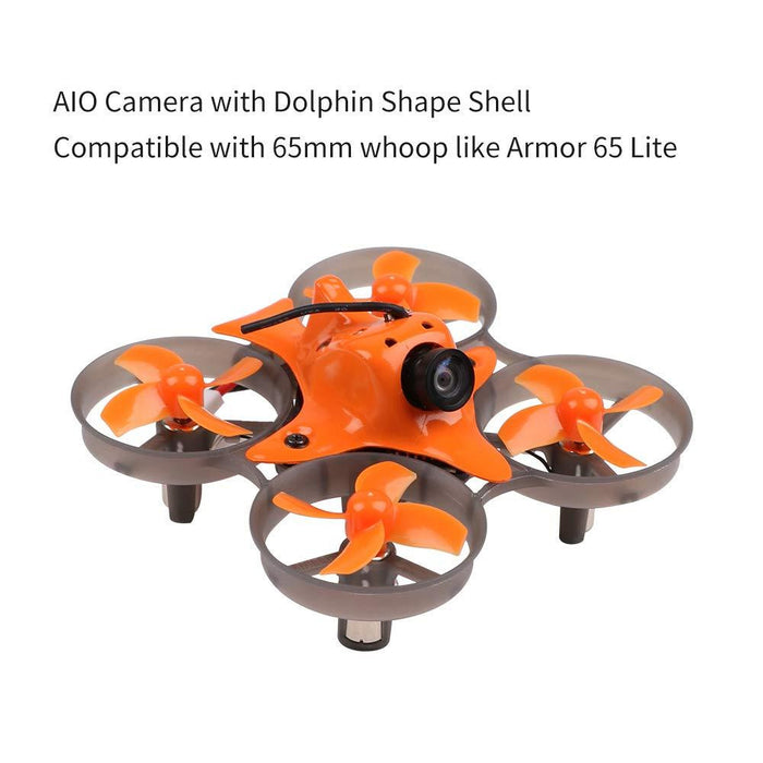 Makerfire Mini AIO FPV Camera 25mW 40CH VTX 650TVL CMOS NTSC/PAL Video Transmitter with Canopy