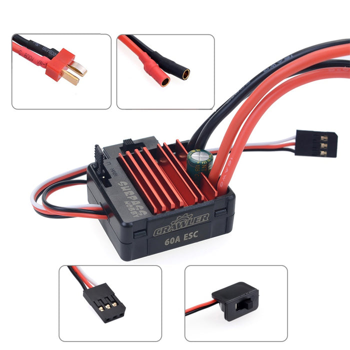 540 11T/13T Brushed Motor 5-Slot RC Car Motor with 60A Brushed ESC  6V/2A SBEC   Programming Card