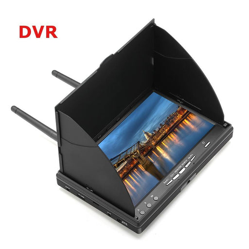 LCD5802D 5802 5.8G 40CH 7 Inch FPV Monitor with DVR Built-in 7.4v 2000mAh Battery