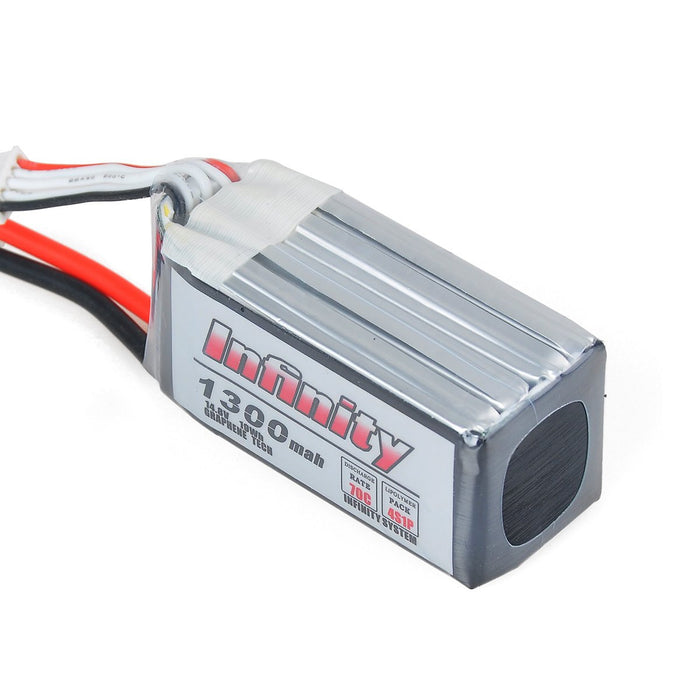 Infinity Graphene LiPo Battery 1300mAh 70C 4S 14.8V SY60 Support 15C Boosting Charge