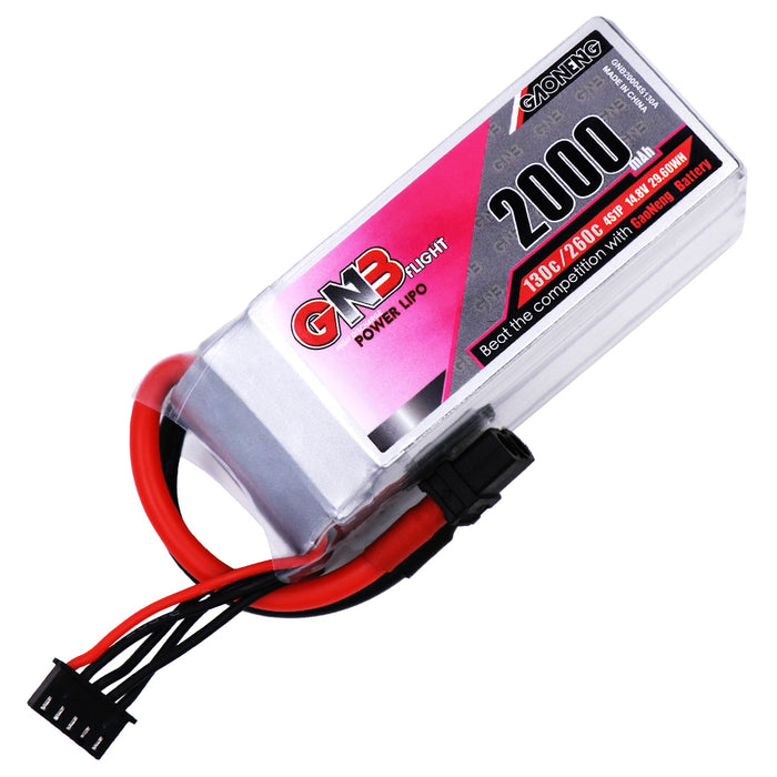 GNB 2000Mah 4S 14.8V 130C / 260C Lipo Battery With XT60 Plug For FPV Racing Drone RC Quadcopter Multirotor Parts