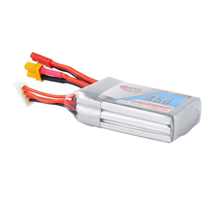 GNB 450mAh LiPo Battery 3S 80C 11.1V XT30 and JST Connector for FPV Racing Drone