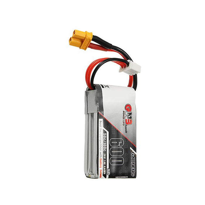GNB 600mAh LiPo Battery Pack 2S 7.4V 50C XT30/JST Connector for FPV Racing Drone