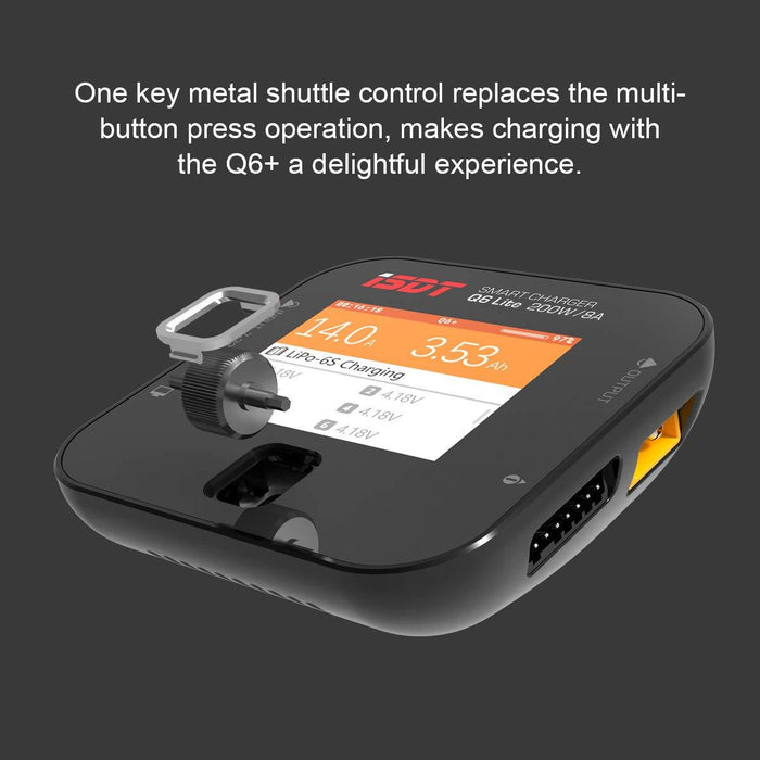 iSDT Q6 Lite LiPo Balance Charger DC 200W 8A Charger Discharger