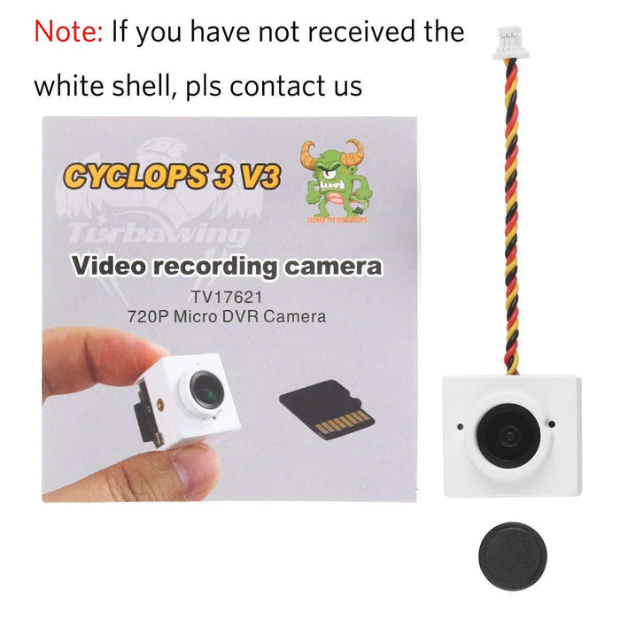 Turbowing CYCLOPS3 V3 720P Micro Video Recording DVR HD Camera 175 Degree NTSC FPV Camera