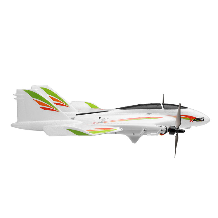 XK X450 RC Airplane 6CH Brushless Motor Multi-function Vertical Takeoff  Landing Stunt RC Airplane-RTF