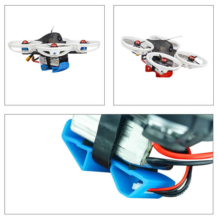 4pcs Landing Gear 1000-1800mAh Lipo Battery Mount Plate Protector Guard with Non-slip Strap