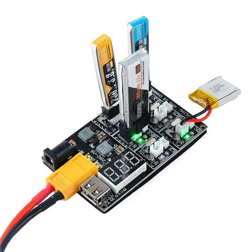 1S LiPo LiHV Charger Board with JST and Micro Losi Cable Input Voltage 6-20V