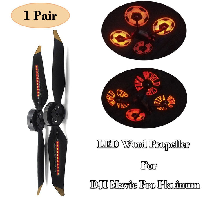 Mavic Pro Platinum LED Word Propeller Programmable LED Flash Word Propellers for DJI