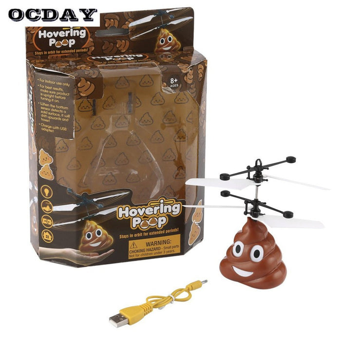 Flying Toys Hovering Emoji Poo Copter, Boys Girls Toys Funny Gifts