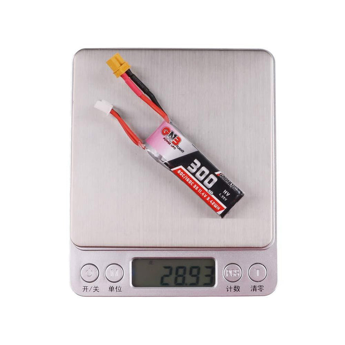 2PCS GNB 300mAh HV LiPo Battery 3S 80C/160C 11.4V XT30 Connector for FPV Racing Drone