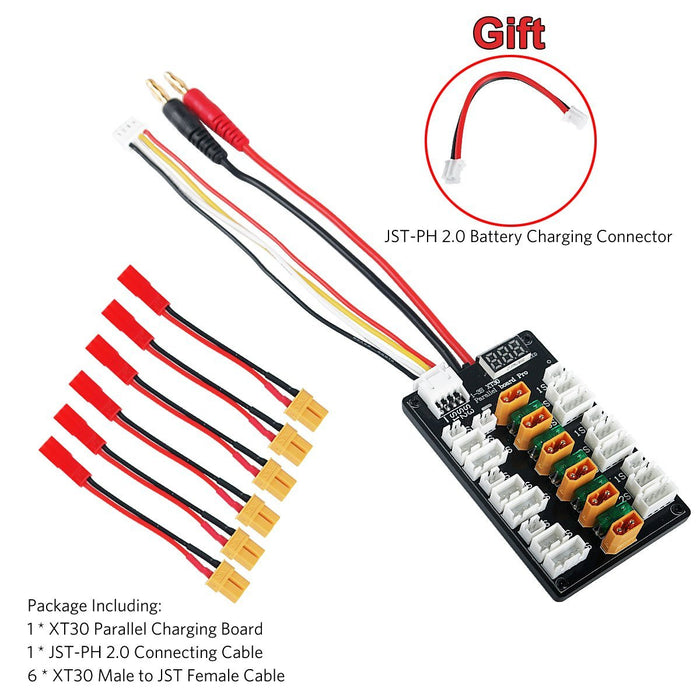 Upgraded XT30 Parallel Charging Board for 1S 2S 3S LiPo Batteries