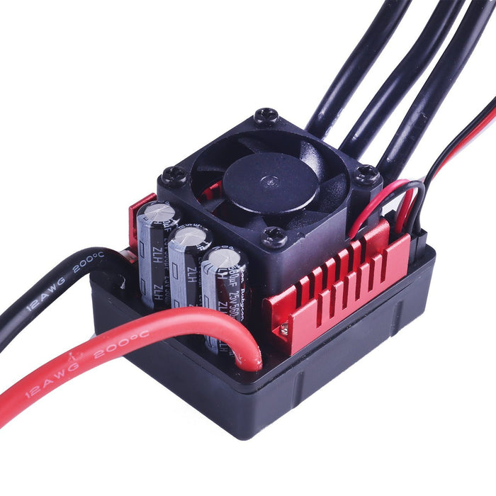 3670 2150KV 5mm Sensorless Brushless Motor with 80A Splashproof ESC for RC Cars