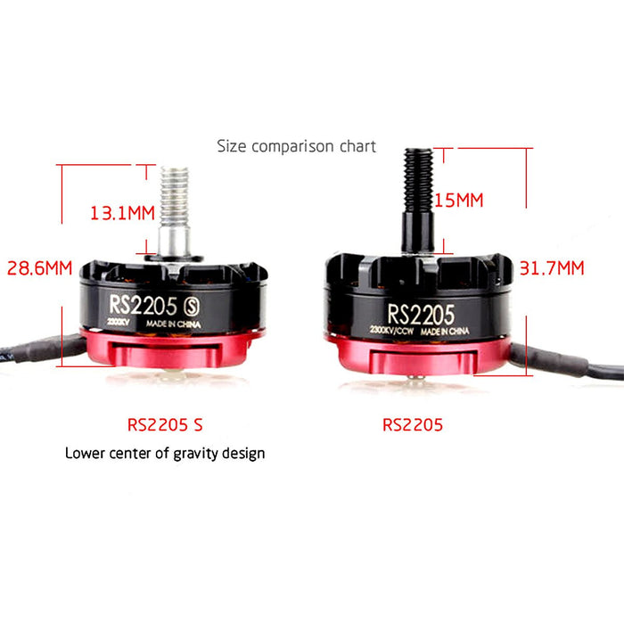 4pcs CW EMAX RS2205-S 2300KV Brushless Motor for X210 QAV250 QAV300 FPV Racing Quadcopter