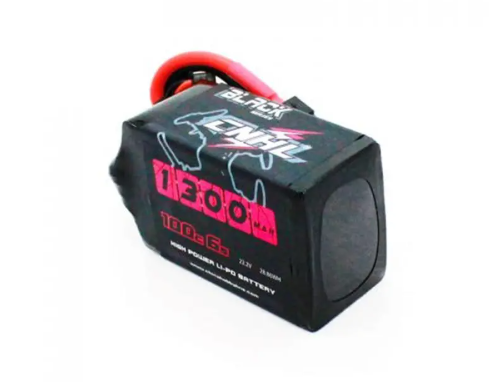 CNHL Black Series 1300mah 22.2V 6S 100C Lipo Battery XT60 Plug for RC Drone FPV Racing