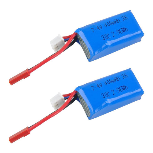 2pcs 400mAh 2S 7.4V 30C LiPo Battery Pack with JST Plug Aromor 67