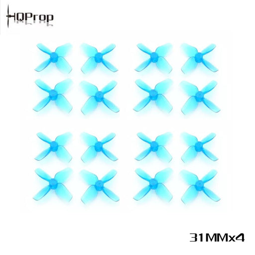 HQProp 31mm 1.22inch Hole 4-Blade PC Propeller 1mm (Pack of 16)