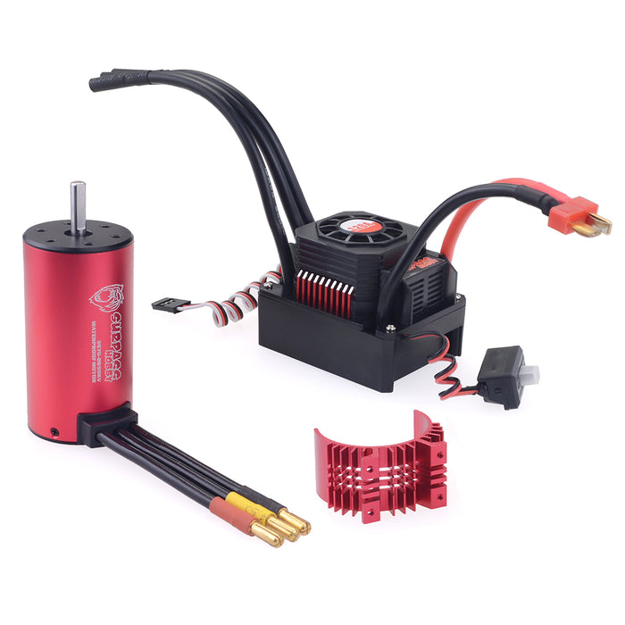SURPASS 3670 2650KV Brushless Motor with  120A Waterproof Brushless ESC and Cooling Shell Combo Set for 1/8 RC Car Truck