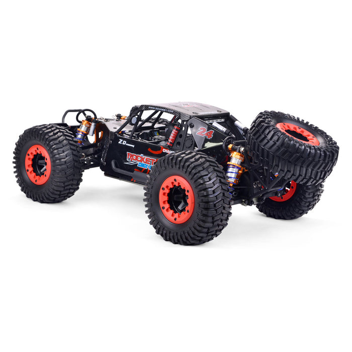 ZD Racing DBX-10 2.4G 1/10 4WD 80km/h Desert Truck Off Road Brushless RC Car - Red with Head Up Wheel