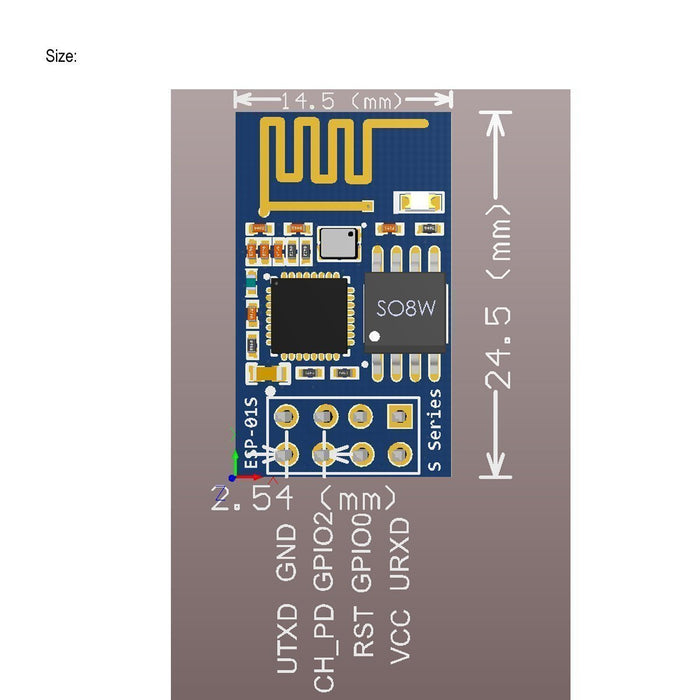 ESP8266 ESP-01S WiFi Serial Transceiver Module with 1MB Flash for Arduino(4pcs)