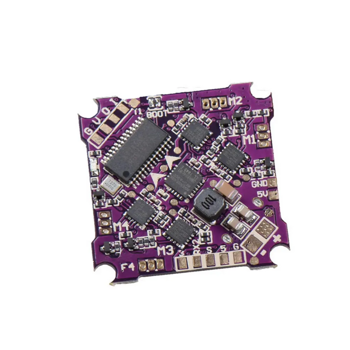 JHEMCU Play F4 Whoop Flight Controller 25.5x25.5mm AIO OSD BEC & Built-in 5A BL_S 1-2S 4in1 ESC for Whoop RC Drone FPV Racing
