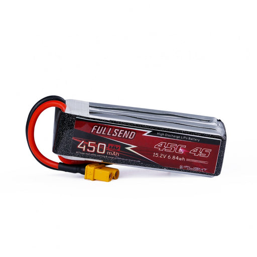FULLSEND 4S 450mAh HV 45C LiPo Battery - XT30 Connector (2pcs)