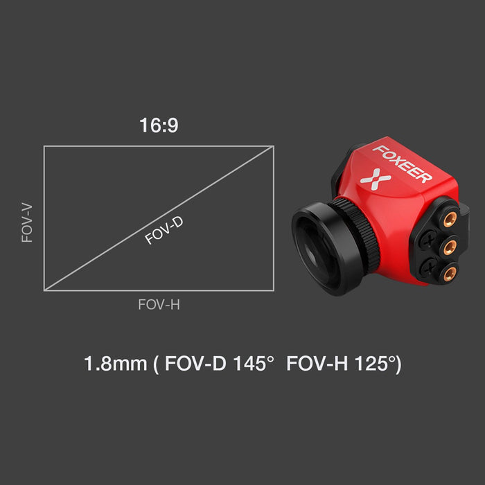 Foxeer Falkor MICRO 1200TVL 1.8mm Lens 4:3/16:9 Screen PAL/NTSC Switchable Camera