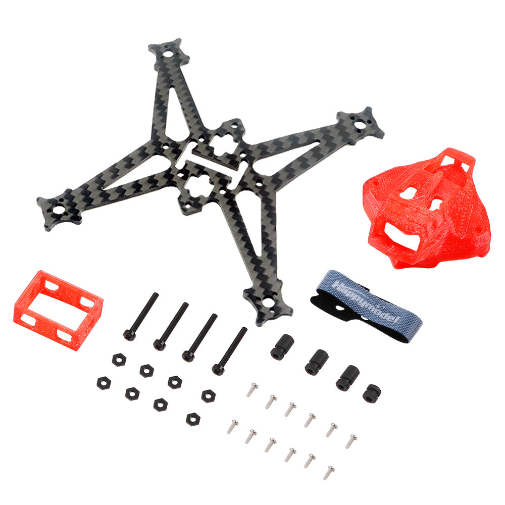Happymodel Sailfly-X V2 Frame Spare Part 105mm Wheelbase Frame Kit Carbon Fiber Quadcopter Frame Kit 3D Printed TPU Canopy Battery Holder
