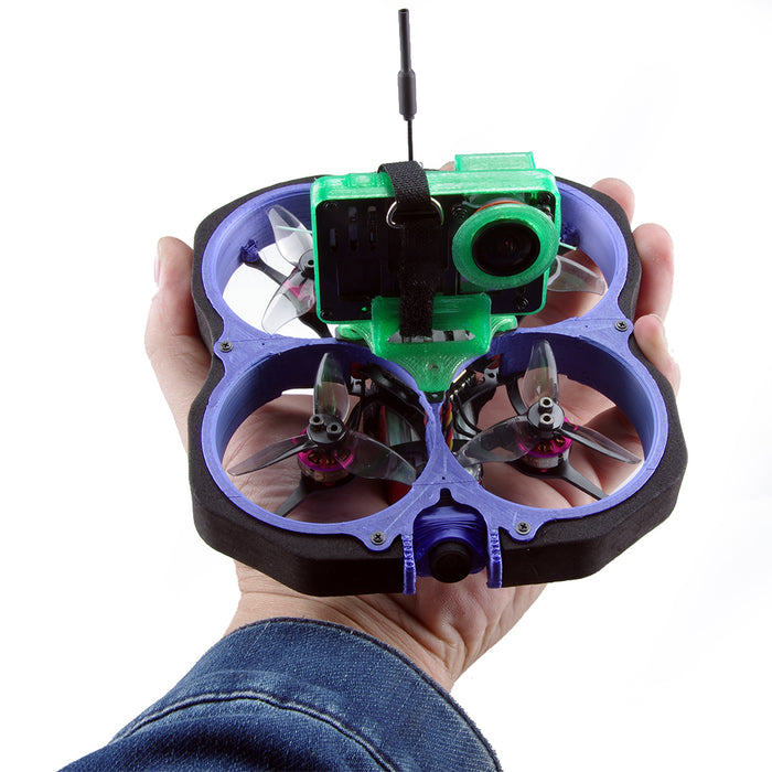 GEELANG LIGO78X 4S Cinewhoop FPV Racing Drone with Gopro6/7 Bare Metal Cover and Camera Mount