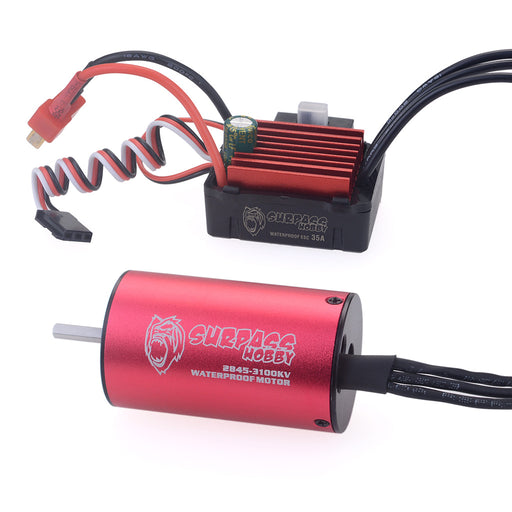 SURPASS 2845 3900KV Brushless Motor Sensorless 3.175mm Shaft with 35A Waterproof Brushless ESC