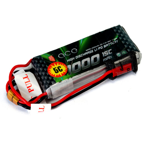 Gens Ace 1000mAh 15C 7.4V 2S  LiPo Battery