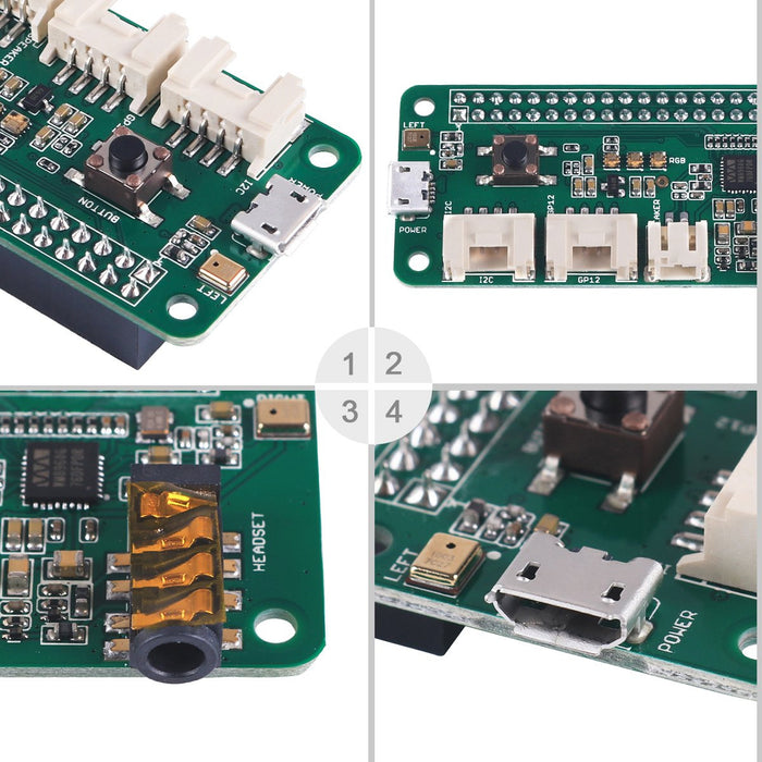 ReSpeaker 2-Mics Pi HAT(Raspberry Pi HAT,Raspberry Pi Expansion Board) Smart Voice Dual Microphone Expansion Board Base on wm8960, Designed for AI and Voice Applications