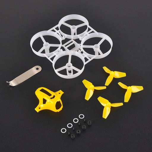 Tiny 7x 75mm Micro Whoop Frame w/ 8pcs 40mm 3-Blade Propellers and 1pc Props Removal Tool