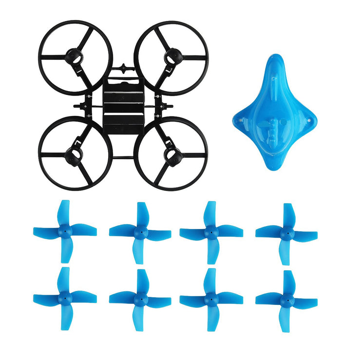 66mm Micro Whoop Frame w/ 8pcs Props and 1pcs Canopy for Armor Blue Shark