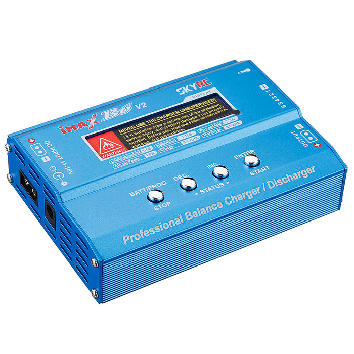 SKYRC iMAX B6 V2 60W 6A DC 2.5mm/XT60 Dual Input Battery Balance Charger Discharger with XT60 Output