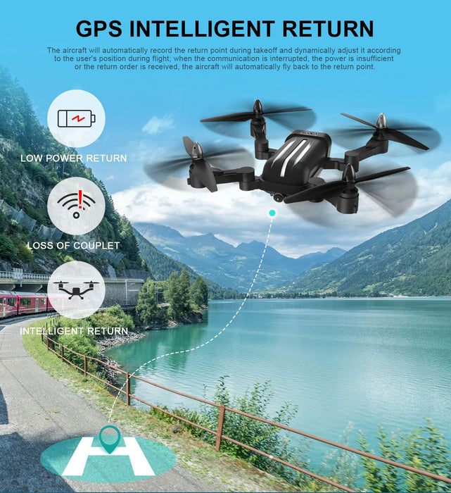 BAYANGTOYS X28 GPS 5G WiFi 1080P FPV Follow Me Foldable RC Quadcopter Aerial Drone