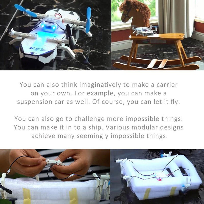 Makerfire LiteBee Brix DIY Building Block Clip Drone for STEAM Education