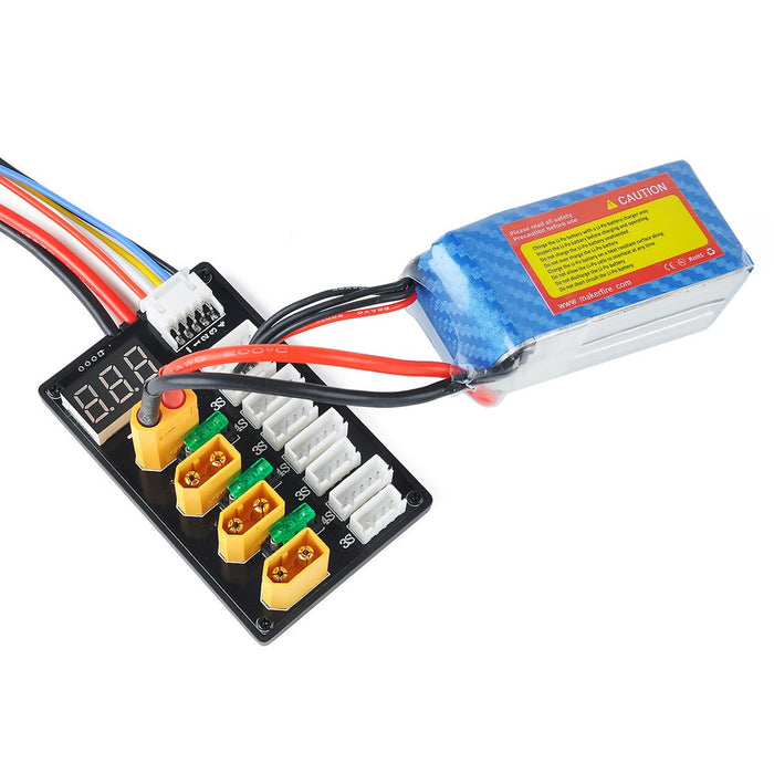 Makerfire 3S/4S LiPo Batteries XT60 Parallel Charging Board