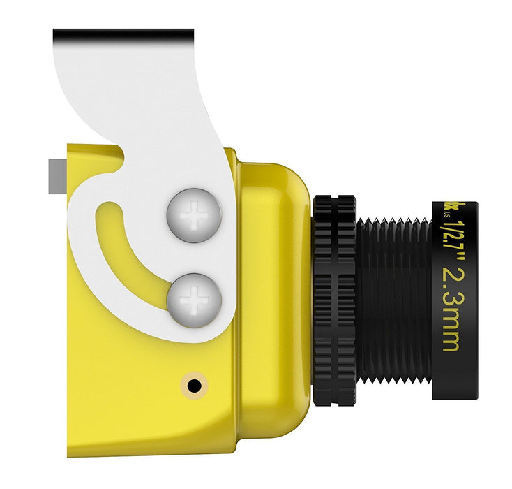 Caddx Turbo S1 FPV Camera 1/3 CCD 600TVL 2.3mm IR Blocked DC 5V-40V Wide Voltage Yellow