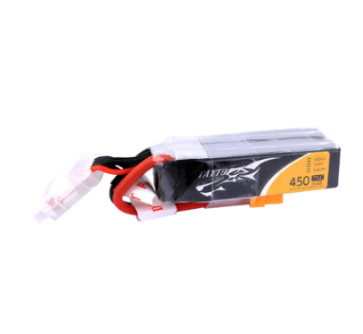 Tattu 7.4V 450mAh 95C 2S Lipo Battery Pack XT30 Plug for Eachine FPV Racing Drone