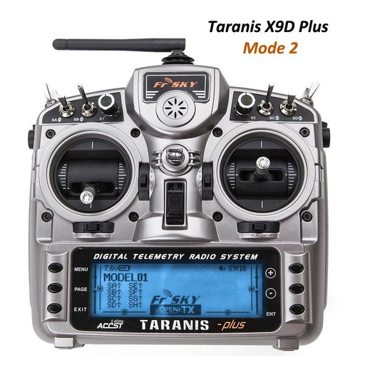 FrSky Taranis X9D Plus 2.4GHz ACCST Radio EU Charger Mode 2 - Left Hand Throttle