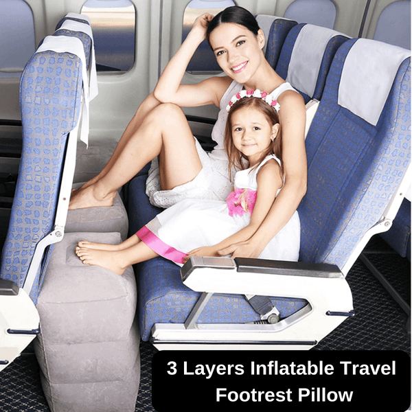 3 Layers Inflatable Travel Footrest Pillow