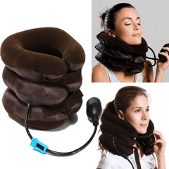 3 layer U Shape Travel Inflatable Neck Pillow