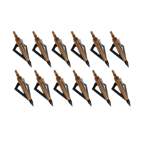 Hunting Archery Broadheads Arrows 100GR 3-Blades 12pc.