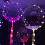 Free 18 Inch Transparent Bubble Balloon Glowing Light