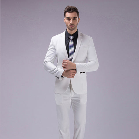 Slim Fit Suits Coat & Pant Design S-4XL 12 Color  2pcs