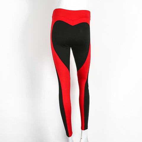 Patchwork Heart-Shaped Sexy fitness legging