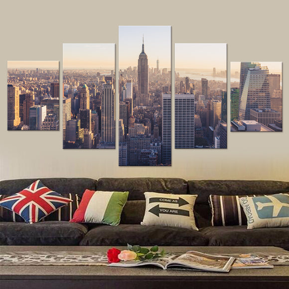 New York City Panels Canvas Prints Wall Art Framed/Unframed 5 Panel