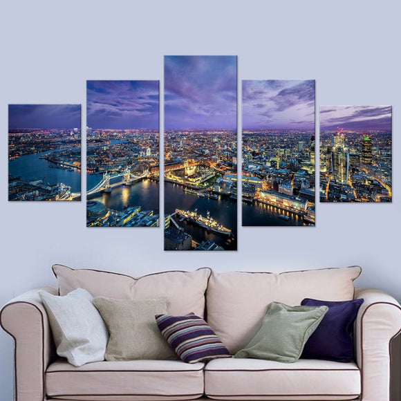 London City Panels Canvas Prints Wall Art for Wall Decorations